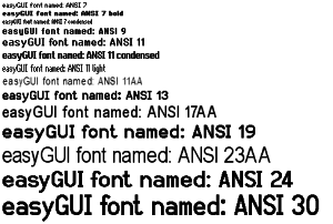 Image of our ANSI Fonts